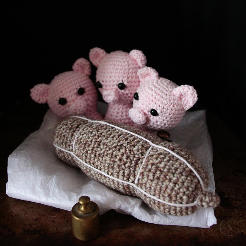 Saucisson au crochet et 3 petits cochons