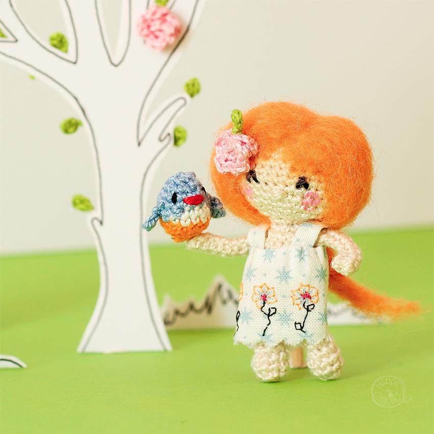 Poupee Miniature au Crochet - Tiny Crochet Doll Amigurumi
