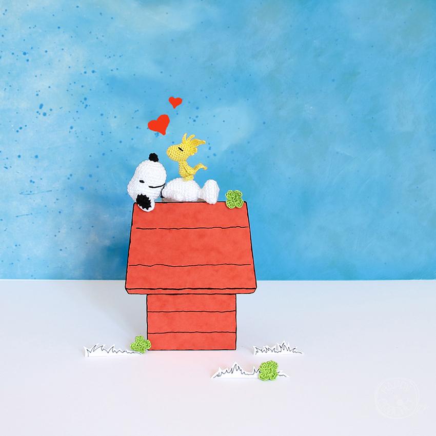 Snoopy et Woodstock Amigurumi Crochet