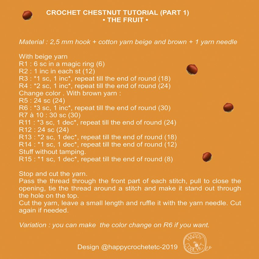 Crochet Chestnut Tutorial 1
