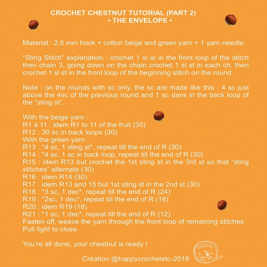 Crochet Chestnut Tutorial 2