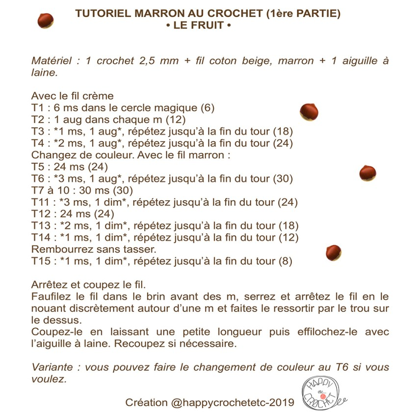 Tutoriel Marron au Crochet 1