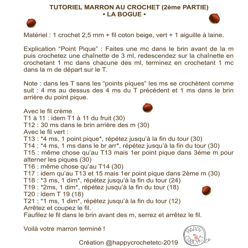 Tutoriel Marron au Crochet 2
