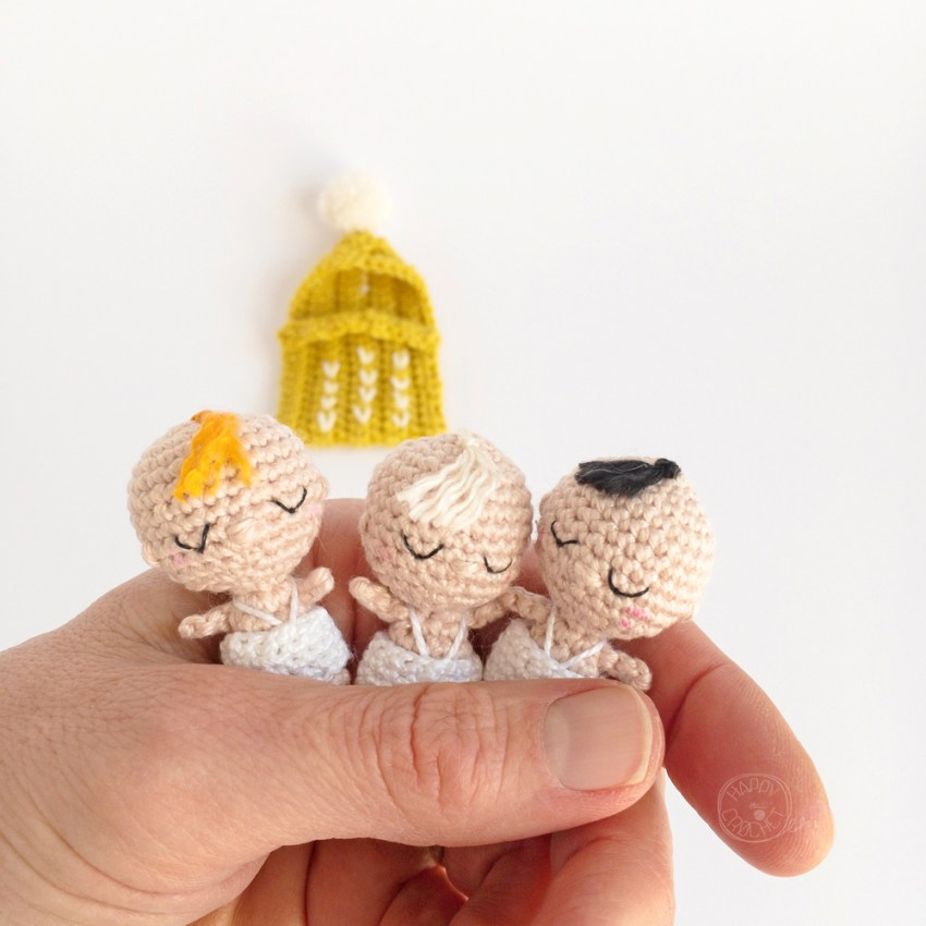 Amigurumi Bébé Miniature par Happy Crochet Etc