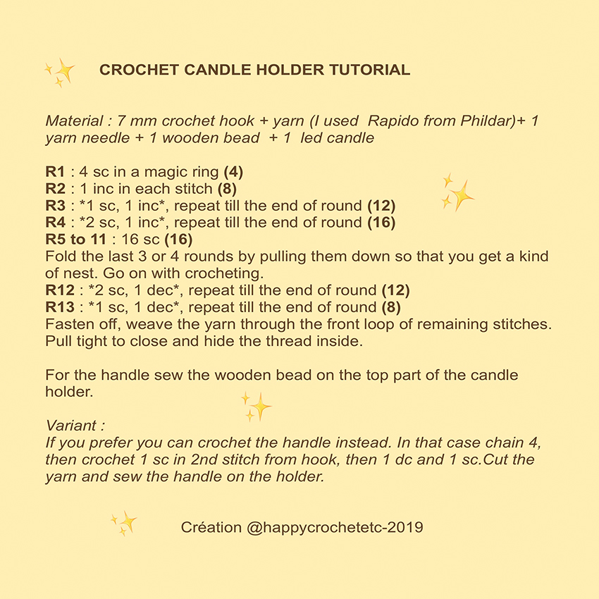 Crochet Candle Holder Tutorial
