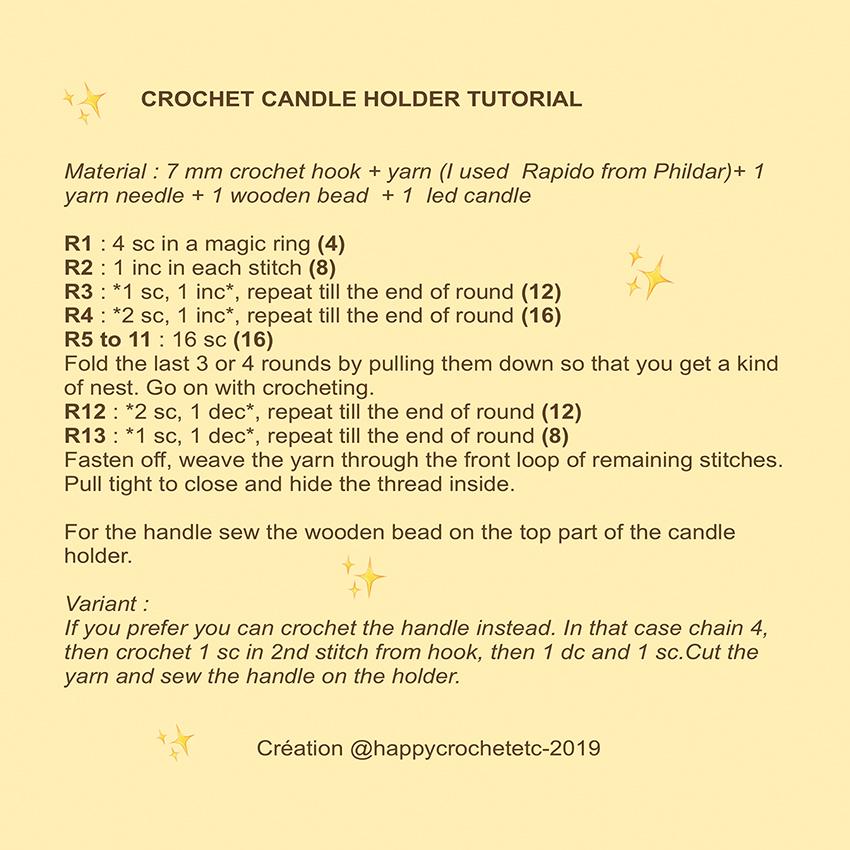 Crochet Candle Holder Tutorial