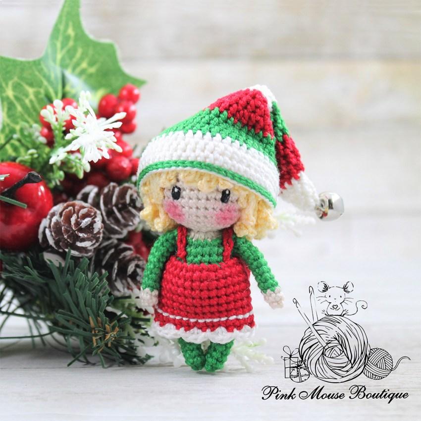 Elfe miniature au crochet de @pinkmouseboutique