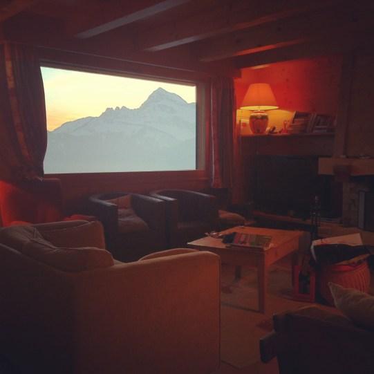 chalet montagne notre-dame-de-bellecombe écran baie vitrée