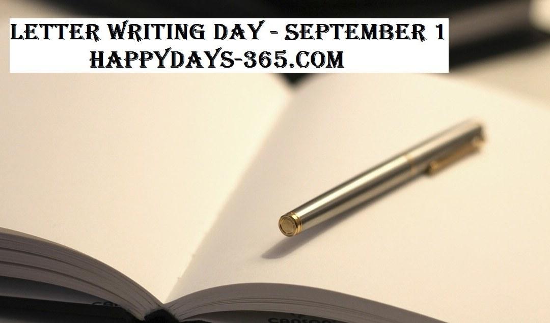 Letter Writing Day – September 1, 2017
