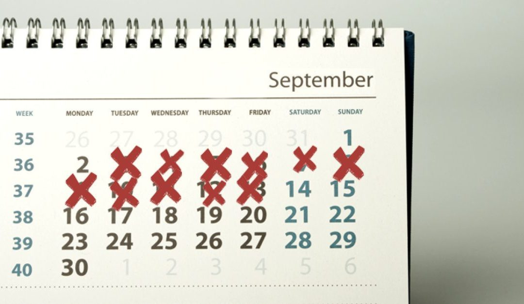 Calendar Adjustment Day – September 2, 2020