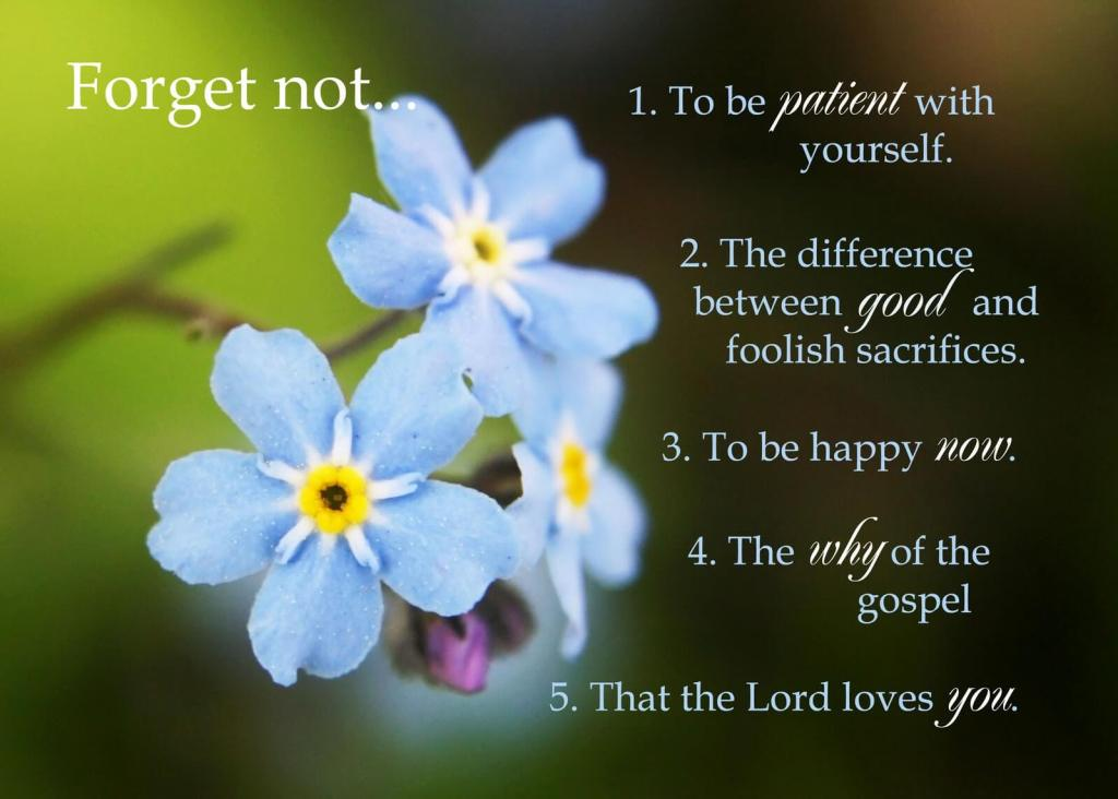 National Forget Me Not Day