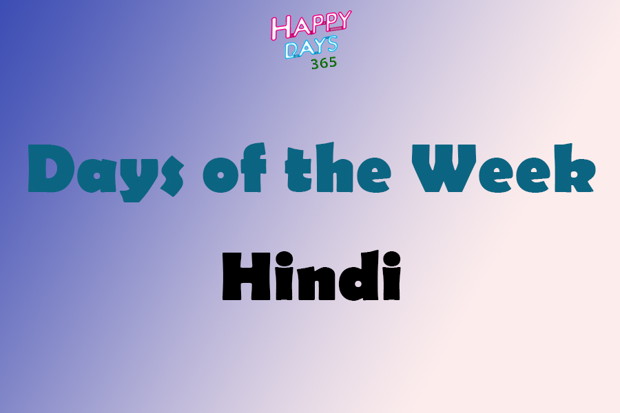 Days of the Week in Hindi