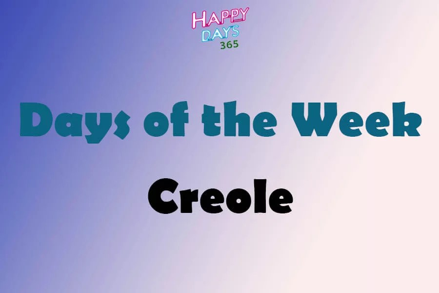Days of the Week in Creole