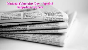 National Columnists Day