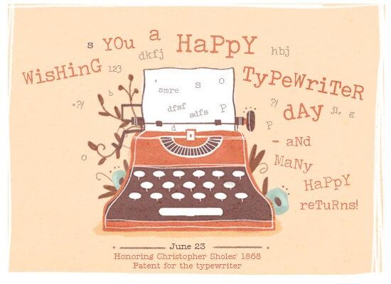 National Typewriter Day