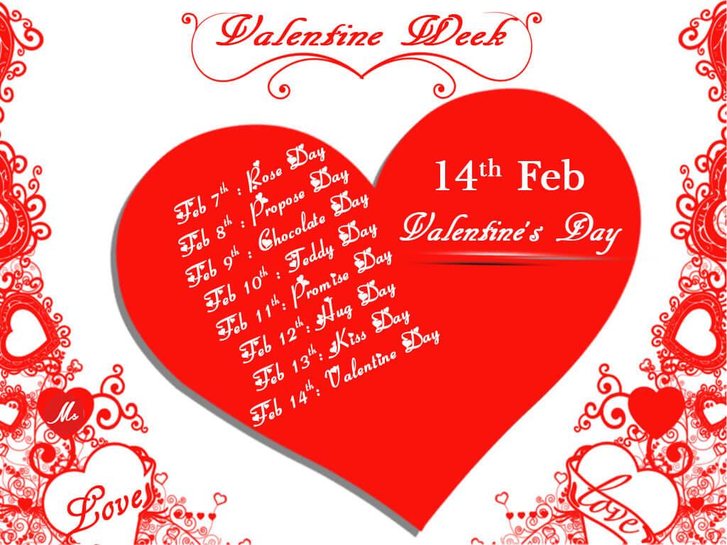 Valentines Week List 2020
