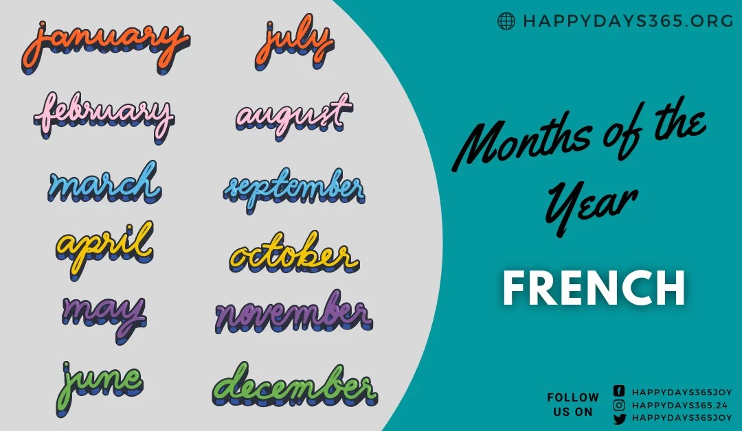 Months of the Year in French