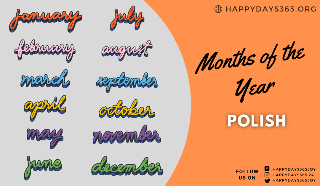 Months of the Year in Polish