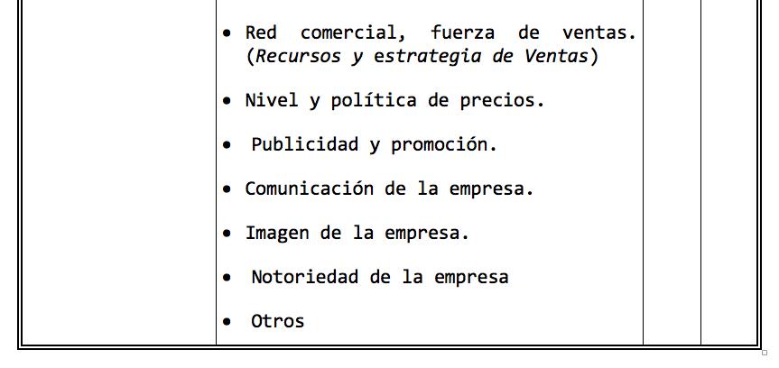 Factores o Capacidades Comerciales