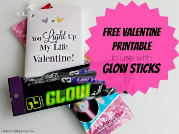 Glow Sticks Free Printable Valentine Cards You Light Up