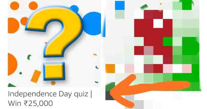 Amazon Independence Day Quiz Answers win 25000