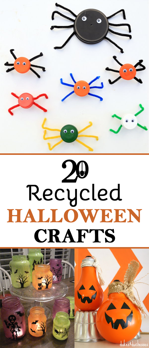 20 Great Halloween Crafts Made From Recycled Materials