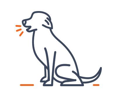 dog icon barking
