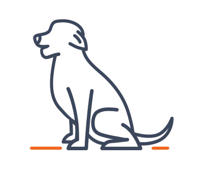 dog icon overweight
