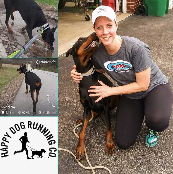 Runner Amanda with dog