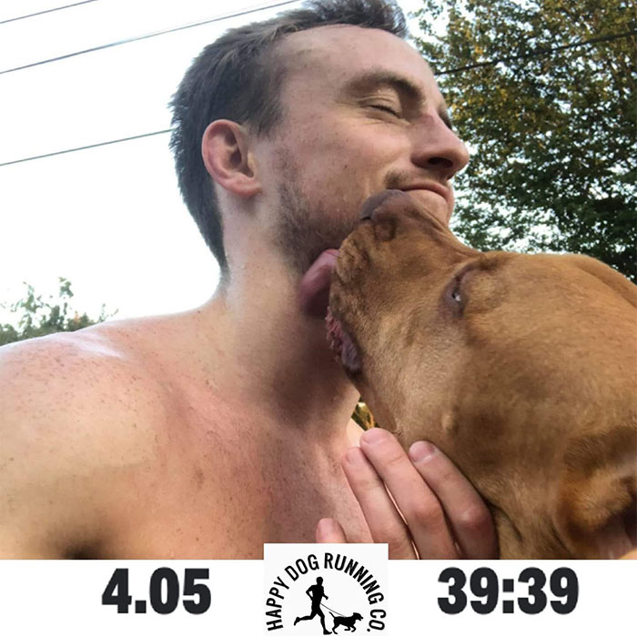 Runner Troy with Dog