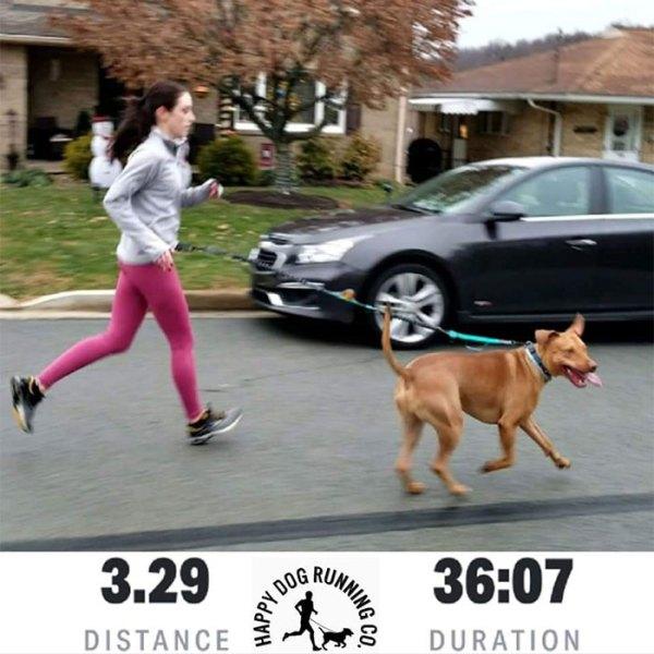 Runner Tyler with dog