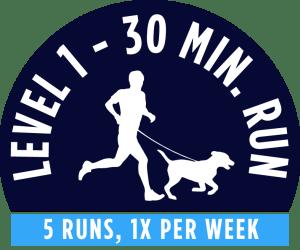 Level 1 - 30 minute running package - 5 Runs, 1x per week