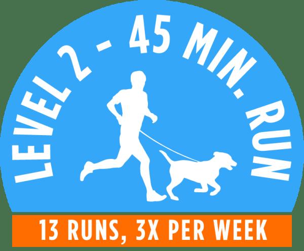 Level 2 - 45 minute running package - 13 Runs, 3x per week