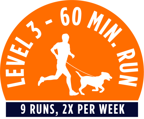 Level 1 - 60 minute running package - 9 Runs, 2x per week