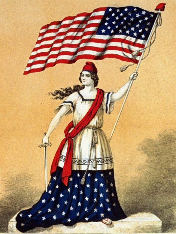 American flag lady