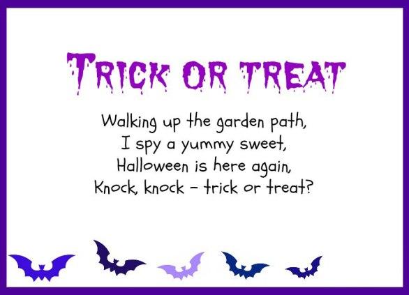 Trick or Treat Poem