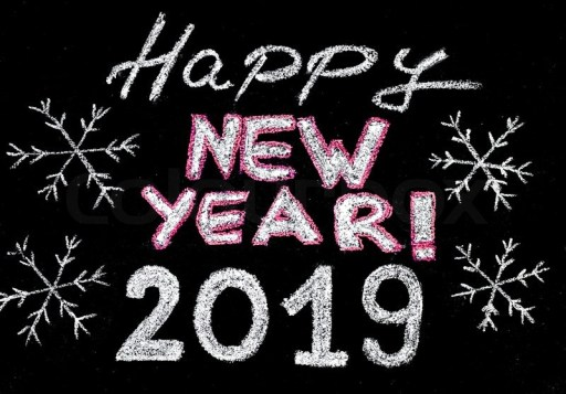 Happy New Year 2019 Black And White Images