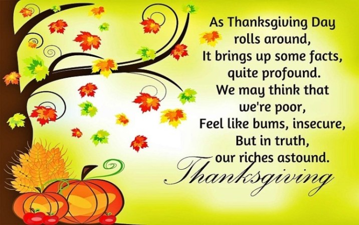 Happy Thanksgiving Messages for Friends
