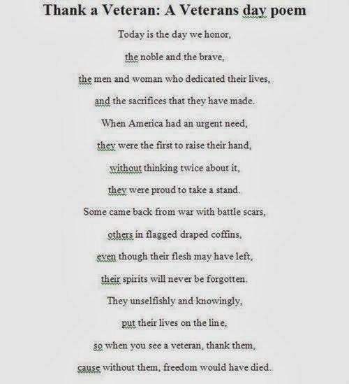 Happy Veterans Day 2018 Poems