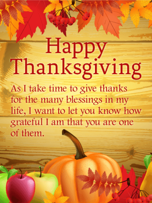 Thanksgiving Greetings