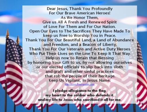 Veterans Day Prayers