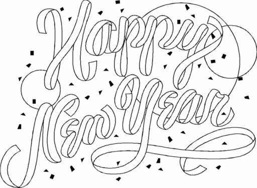 New Year 2019 Coloring Sheets