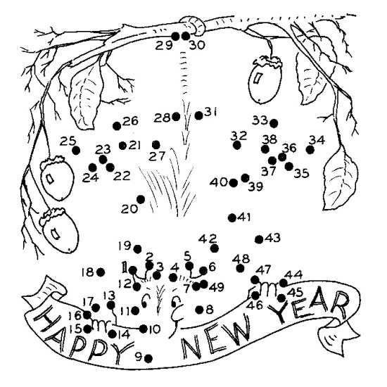 New Year Coloring Pages Free Image