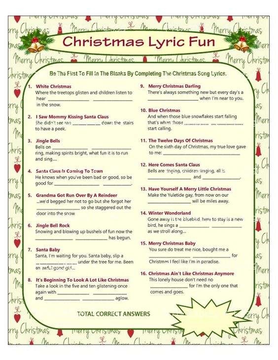 Christmas Lyric Fun