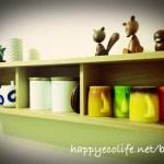 賃貸暮らしに最適!IKEAのベストーと無印良品の壁に付けられる家具で食器棚をアレンジ