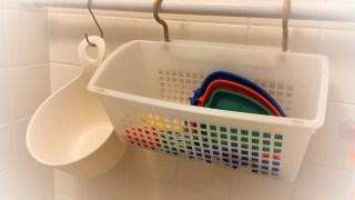 お風呂のオモチャ収納