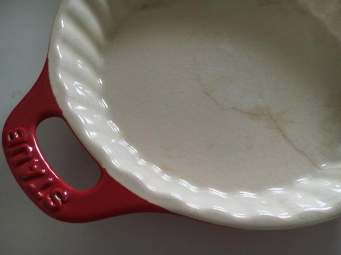 ストウブセラミックグラタン皿にひび