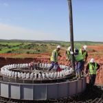 Watch Contractors Hypnotically Build an Entire Wind Turbine Farm