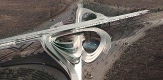 Hyperloop desert campus imagines futuristic solar-powered oasis