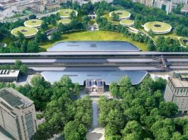 """MAD unveils solar-powered """"Train Station in the Forest"""""""